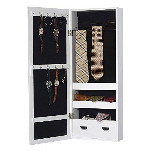 Grafelstein - armadietto portagioie filou con specchio, colore: bianco