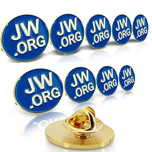 Jehovah Witness - Juego de pines de los testigos de Jehová (JW.org) para corbata, solapa o chaqueta de hombre o mujer, forma redonda o cuadrada