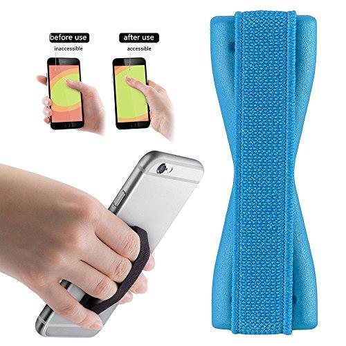 Tmobile Tabletten (2Ticks Samsung Galaxy J7 Prime T-Mobile Anti-Rutsch-elastische Tablette Handy Finger Griff Ring Halter Selfie Strap - Baby Blue)
