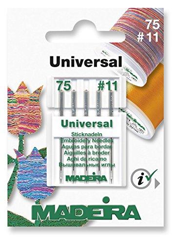 Madeira Universal Nähmaschinennadeln Pack 5Größe 75/11–für alle Home Nähmaschinen (Indien Nähmaschine)