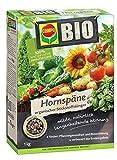 COMPO BIO Hornspäne, Hochwertiger und natürlicher Stickstoffdünger, 1 kg