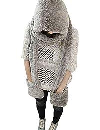Proglam - Guantes de Invierno con Capucha para Mujer Deep Gray