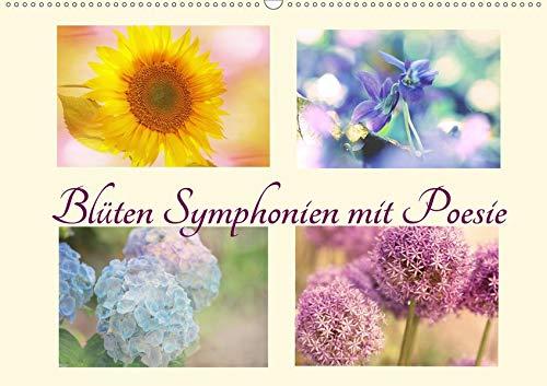 Blüten Symphonien mit Poesie (Wandkalender 2020 DIN A2 quer): Zauber des Sommers mit Poesie und Weisheit erfüllt (Monatskalender, 14 Seiten ) (CALVENDO Glaube)