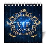 YISUMEI Hem Gewichte Vorhang Duschvorhang Mode Duschvorhänge 180x200 cm VIP Lounge Galaxy