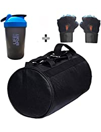 SOOPLE SPORTZ Gym Bag Combo Set Enclosed With Soft Leather Gym Bag For Men And Women For Fitness - Bag Size 49cm... - B07CSS6SSR
