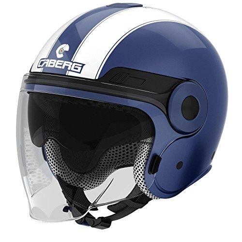 Caberg Uptown Legend motocicleta Jet Casco termoplástico–Azul Blanco