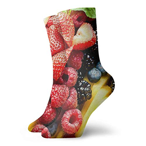 Drempad Luxury Sportsocken Fruit Berry Strawberry Adult Short Socks Cotton Cozy Socks for Mens Womens Yoga Hiking Cycling Running Soccer Sports
