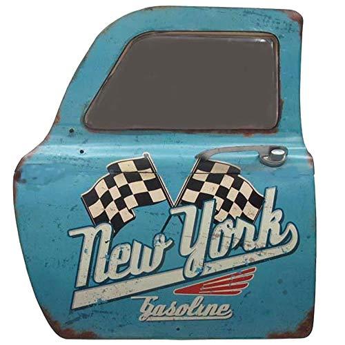 SARED - Taxi New York Azul Metal con Espejo - Decoración de Pared Vintage Metal - 46 x 42 x 7 cm ...
