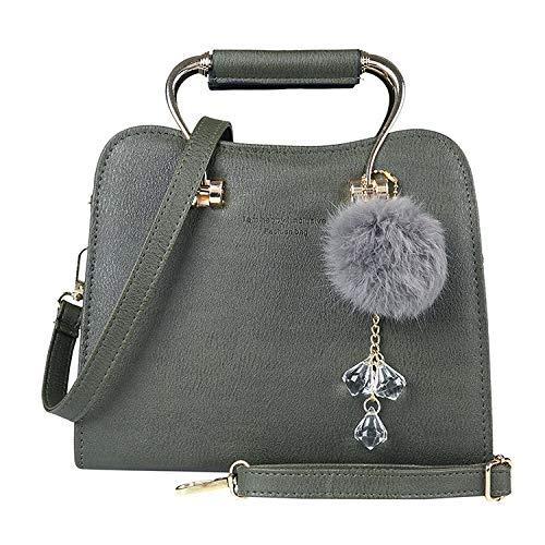BBAGG Art und Weisedamenhandtasche, weiche PU-Ledertasche der Damen mit Kuriertasche, Mini wild Zip Detail Mini