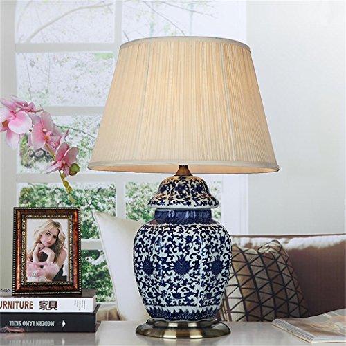 Keramische Lampen Klassische blaue und weiße keramische Wohnzimmer Lampe