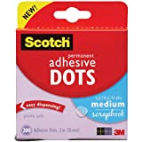 3 M Scotch Permanent Selbstklebend Dots-Ultra-Thin Medium Scrapbook