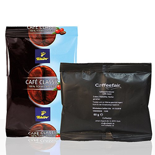 Tchibo Cafe Classic Mild 80 x 60g + Coffeefair Filterkaffee 10 x 60g