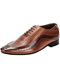 Goose Men'S Brown Synthetic Leather Lace Up Formal Shoes (Goose6)