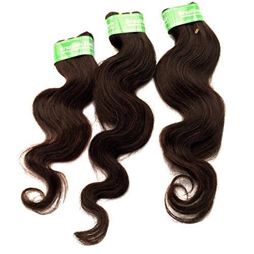 King Love Star Ensembles brésiliens Vague corporelle brésilienne non transformée Extensions de cheveux humains 6 pièces 14 14 16 16 18 18 Pouces 300g 100% tissage des cheveux humains Couleur marron
