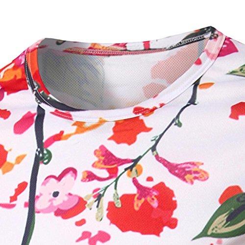 OverDose Herren Mode Print Slim Fit Casual Shirt Rundhals Basic Shirt Fitness T-shirt F