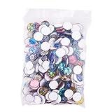 PandaHall Gemischte Farbe Bunt Runde Mosaik Kuppel Glas cabochons ca. 200 Stück, Größe 12x4 mm - 8