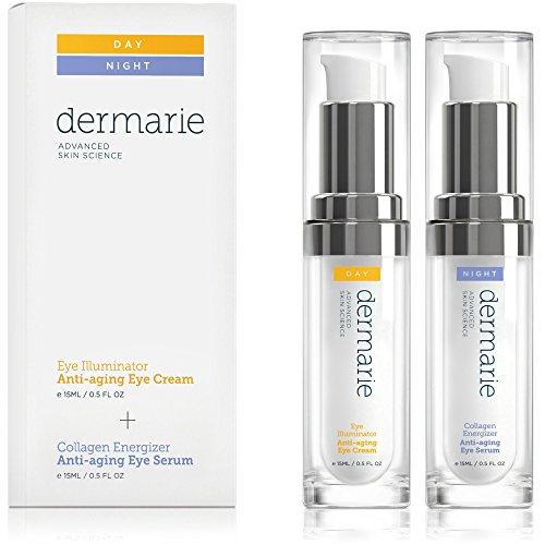 Dermarie illuminateur Crème contour des yeux et collagène Energizer Eye Sérum anti-âge Traitement Lot, 0,5 g/15 ml