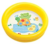 Warenhandel König Babypool gelb grün Pool Baby Planschbecken Kinderpool Badespaß Spielspaß mit niedlichem Motiv (Schildkröte/gelb)