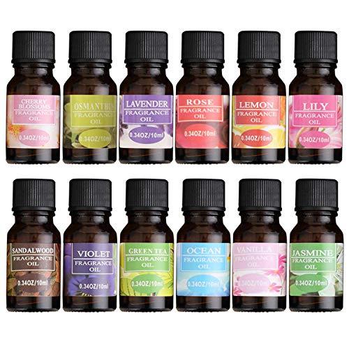 Wasser-löslich Blume Obst Ätherisches Öl Entlasten Stress für Luftbefeuchter Duft Lampe Luft Auffrischung Aromatherapie Körper Öl,1pcs (Obst-öl)