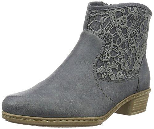 Rieker Damen Y0735 Kurzschaft Stiefel, Blau (Jeans/Denim/14), 39 EU
