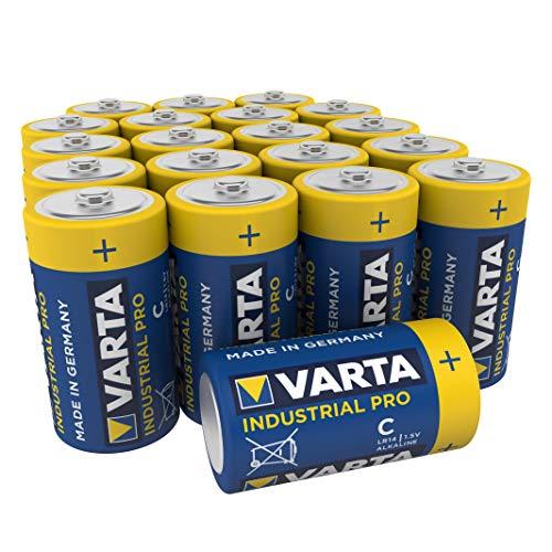 Varta Industrial Batterie C Baby Alkaline Batterien LR14 (20er Pack), Design kann abweichen