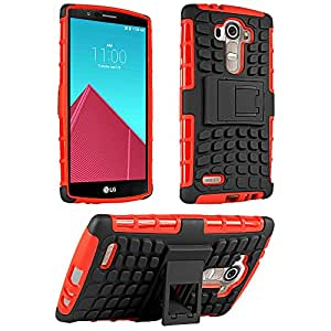 LG G4 Case, HHI Dual Armor Composite Case with Stand for LG G4 - Red