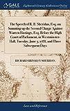 Richard Brinsley Sheridan Historia del derecho