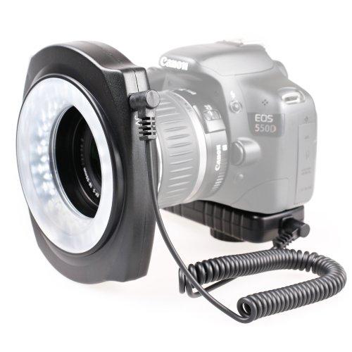 Kaavie-LED Macro Ring Flash (flash anulare)-intero anello, anello interno o esterno con gli obiettivi di 49 millimetri, 52mm, 55mm, 58mm, 62mm, 67 millimetri filo per Canon, Nikon, Olympus, Pentax, Sony