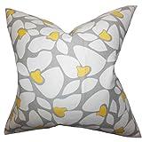 The Pillow Collection Zaza Bettwäsche, geometrisch, für Kingsize-Betten, 50,8 x 91,4 cm, Grau