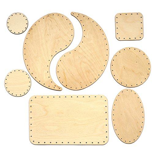 Korbboden Set gemischt, groß für Peddigrohr 2mm und 3mm - Flechten, Korbflechten, Schilf Set, Peddigrohr, Flechtmaterial, Flechtset, Rattan