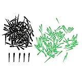 Homyl 200 Stück Dart Spitzen aus Kunststoff mit 2BA Gewinde, Lila + Schwarz