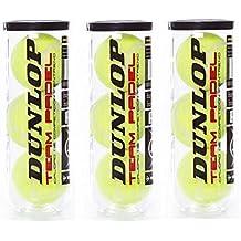 Dunlop team padel pack 3 Botes (9 pelotas)