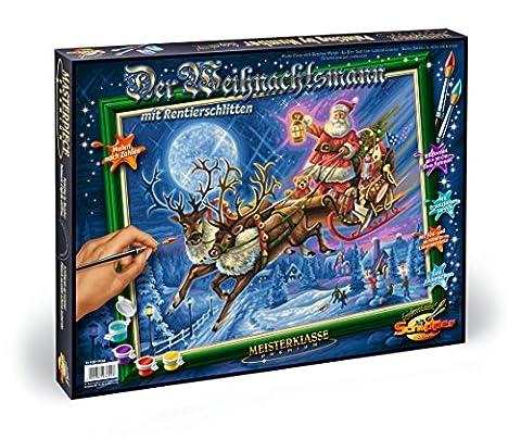 Noris 609300694 - Weihnachtsmann mit Rentierschlitten