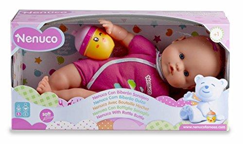 Famosa 700012087 - Nenuco Bambola con Biberon e Vestito Rosa