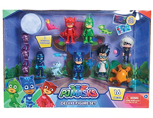 Super Bösewicht Girl Kostüm - PJ Masks Deluxe 16-teiliges Figuren Set