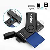 Lettore di schede USB 3.0 tipo C, USB C 3.0 SD memory card Reader con tappo a Build-in card micro SD per schede SDHC/SDXC/SDHC UHS-I SD, TF/Micro SD Card Reader