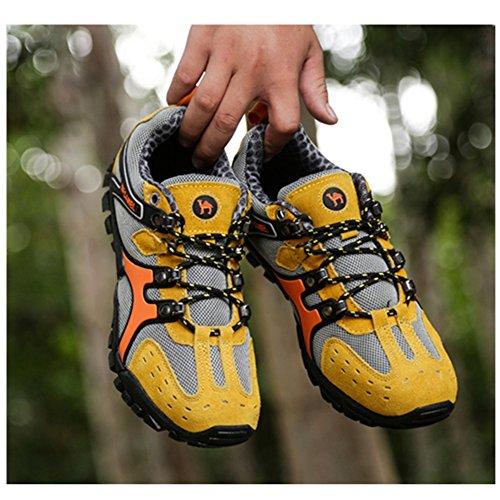 SAGUARO Hike Trekking Wanderhalbschuhe Outdoor Sport Wander Schuhe Walking Wanderstiefel Boots für Herren Damen 38-43 Gelb