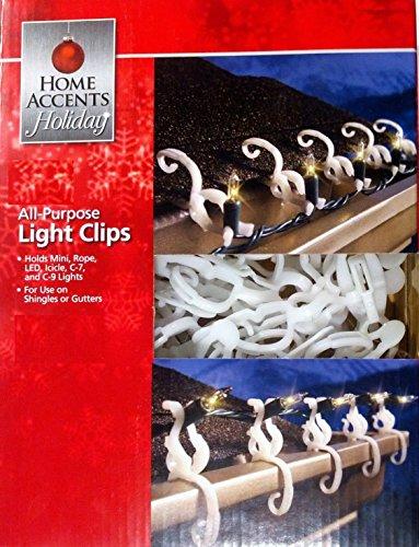 Home Accents Holiday Living Allzweck-Schindel/Dachrinnen-/Weihnachtslicht-Clips für Mini, Eiszapfen, Seil, C7, C9, LED, Kugeln und mehr - 150 Haken - Mini-eiszapfen-lichter
