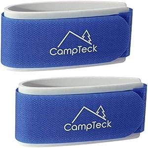 CampTeck Ski Band, Skiclip – 1 Paar (2 Riemen) – Tragegurte für den leichten Transport, Reise und Aufbewahrung von Skiern