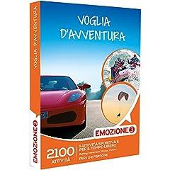 Idea Regalo - Emozione3 - Cofanetto Regalo - Voglia D'AVVENTURA - 2100 attività Sportive o di Svago tra Rafting, Parapendio, Motori