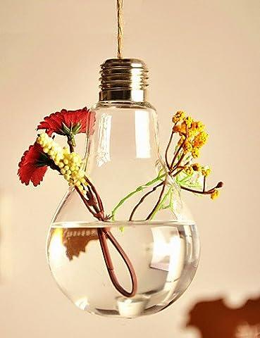 """Sucastle®, 5,5 """"h kreative Lampe 2 Engpässe Glasflasche, Künstliche Blumen, Simulationsblumen"""
