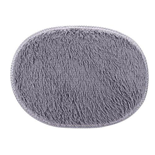 Sonnena 30* 50cm rutschsicheren flauschig Shaggy Bereich Teppich Home Schlafzimmer im Badezimmer Fußmatte 30*50cm grau (Läufer Teppich Griff)