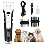 Dog Clippers,Pet Grooming Clippers Comb Kit Professional Rechargeable Cordless Electric Clippers low noise