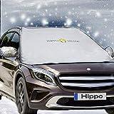 Hippo Magnetische Windschutzscheibe Schneedecke & Spiegel Abdeckungen - Gilt für EIS, Sonne, Schnee, Frost und Wind Wetter, Eignet für die Meisten Fahrzeuge