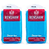 Renshaw Turquoise Blue Ready to roll icing 500g (2 x 250g Packets)
