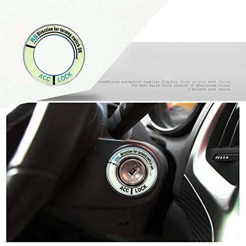 iTimo Auto Leuchtende Legierung Zündschloss Abdeckung, Auto Aufkleber für Honda FIT City Civic Ciimo Accord CRV Odyssey (Silber) (Honda Accord Alarm)