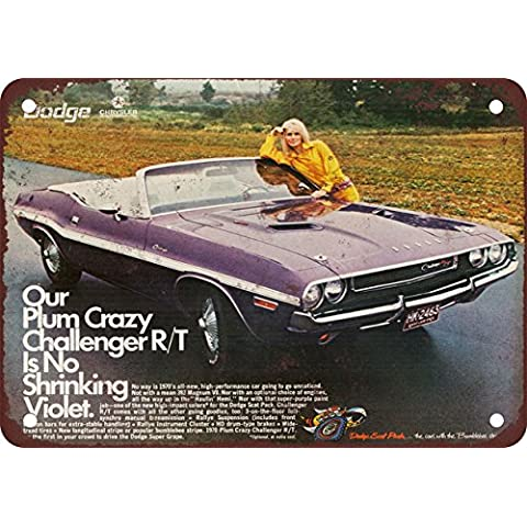1970 Convertible Dodge Challenger samfme de Metal Sign