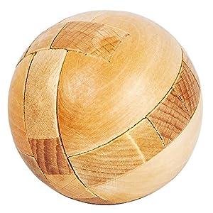 Holz Rätsel: Geduldspiel Fußball aus Holz (Geduldsspiele Holz) Puzzle Spielzeug, Holz Puzzle Magical Ball Intelligenz Spiel Denksport Spielzeug 3D IQ Puzzle 3D Holzpuzzle Knobelspiele Geduldspiel