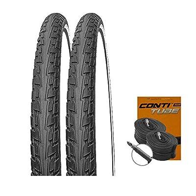 Set: 2 x Continental Fahrrad Reifen RIDE TOUR reflex 42-622 / 28x1.60 + CONTI SCHLÄUCHE Rennradventil