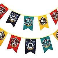 Harry Potter Wall Banner, gryffindor | hufflepuff | ravenclaw | Casa Slytherin bandera de decoración (3m 12pcs)